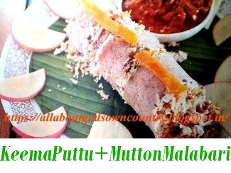 Minced Meat Puttu + Mutton Malabari