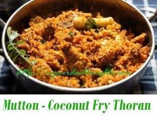Mutton with Coconut Fry Thoran