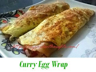 curry egg wrap