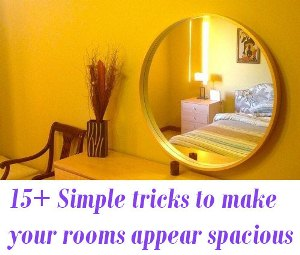 to make your rooms appear spacious