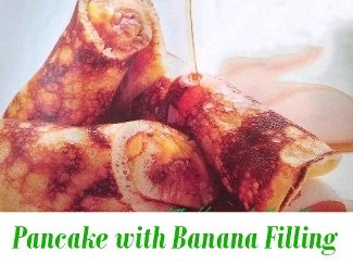 Pancake with Banana Filling