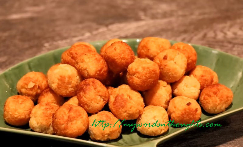 Bread Coconut Sweet Balls My Words Thoughts